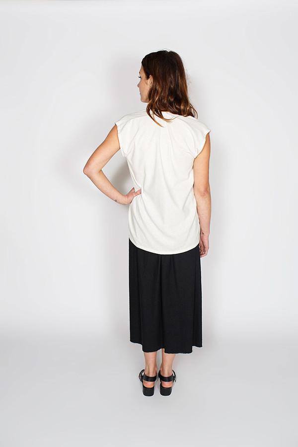 Miranda Bennett  Everyday Top, Silk Noil in Natural