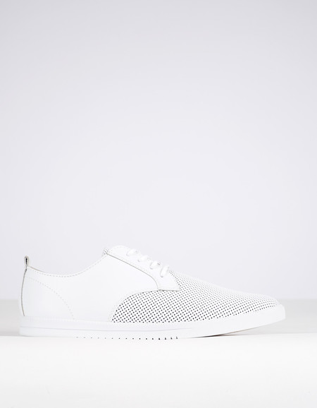 Clae Men's Ellington Leather White Perf Leather