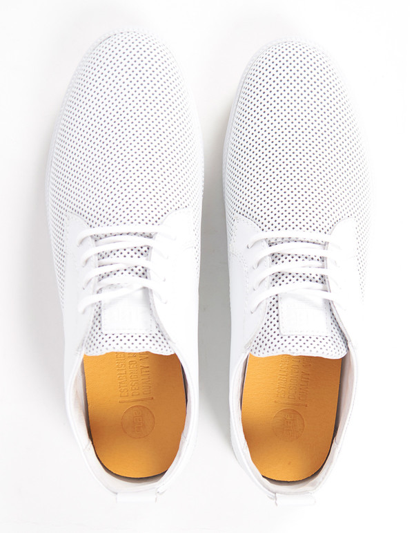 Clae Men's Ellington Leather White Perf Leather