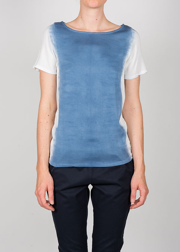 Kain Label - Coco Tee in White to Blue Fade