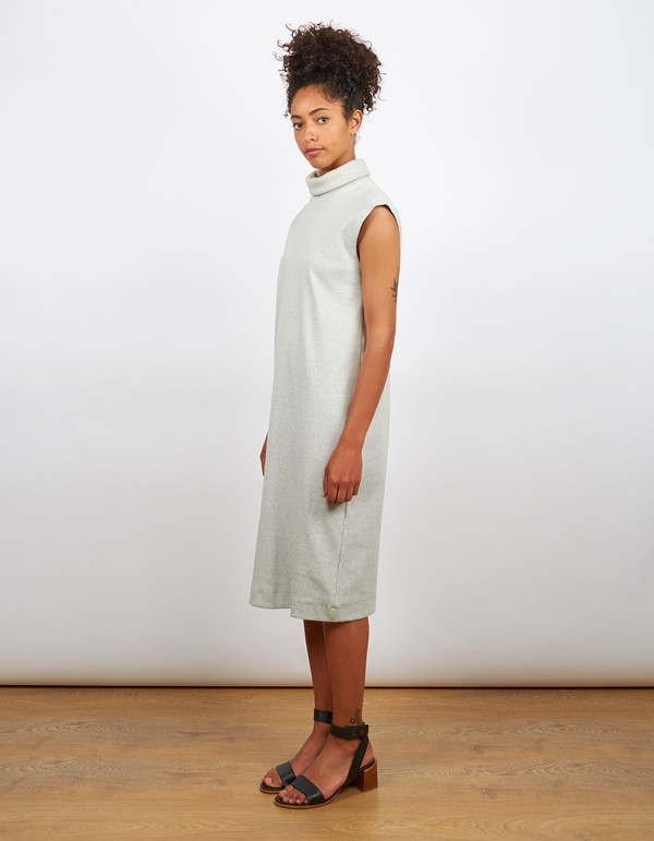 Kowtow Turning Pages Dress Grey Marle