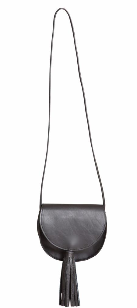 OLIVEVE mallory saddle bag in black saddle leather