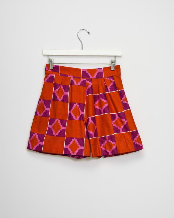Osei-Duro Parva Shorts in Hibiscus