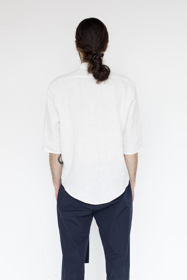 Assembly New York Linen Noncollar Shirt