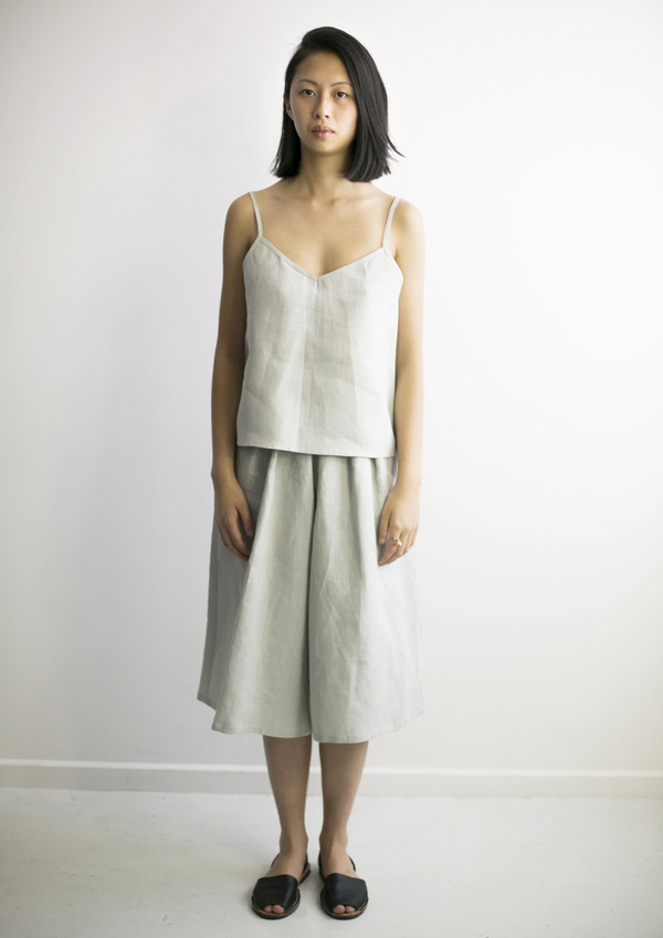 GOOD STUDIOS WOMENS HEMP LINEN LONG CULOTTES