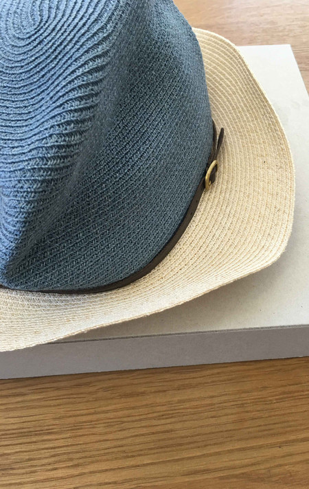 Two New York Mature Ha: Blue Hat with large natural brim