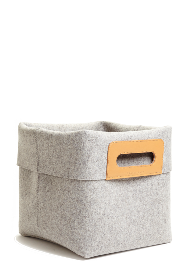 KORB Granite Wool Felt Basket