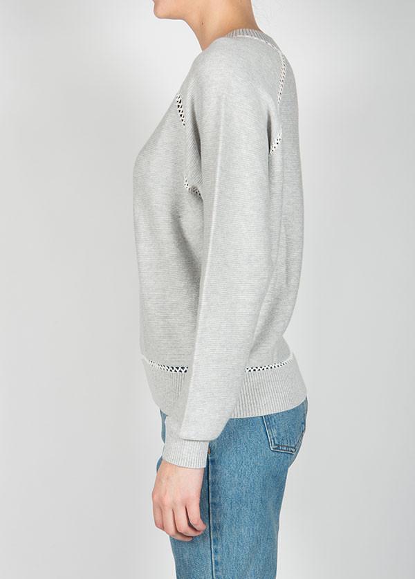 Line Knitwear - The Warwick in Quail / Opal