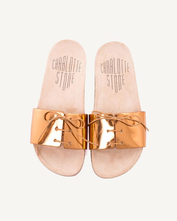Charlotte Stone Barton sandal in metallic Copper - LAST PAIR