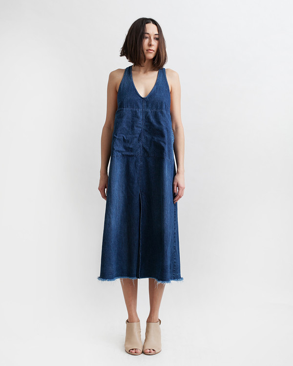 Rachel Comey Buxton Denim Dress in Indigo