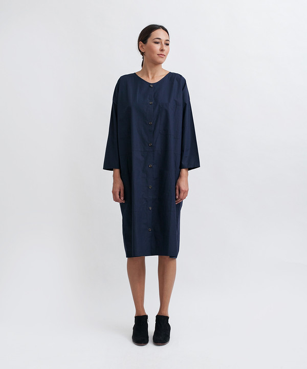 Revisited Matters Cotton Workdress in Navy