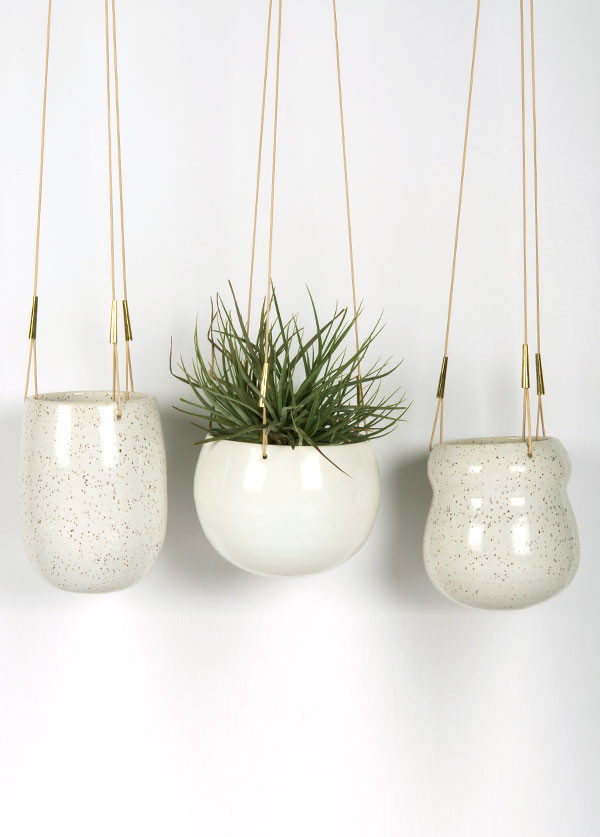 Maggie Boyd Ceramics - Hanging Planter, Large