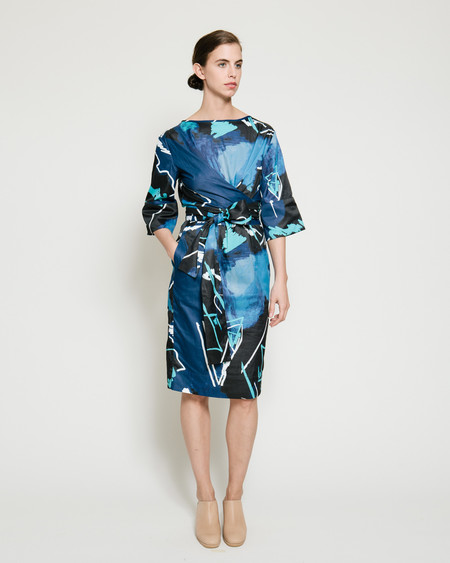 Gary Bigeni Harper Dress in Swiggle Print