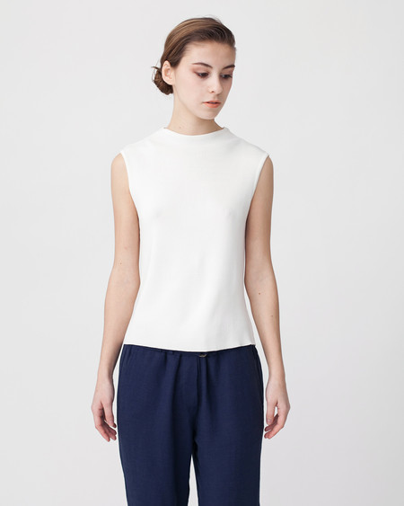 Achro High Neck Sleeveless Knit Top
