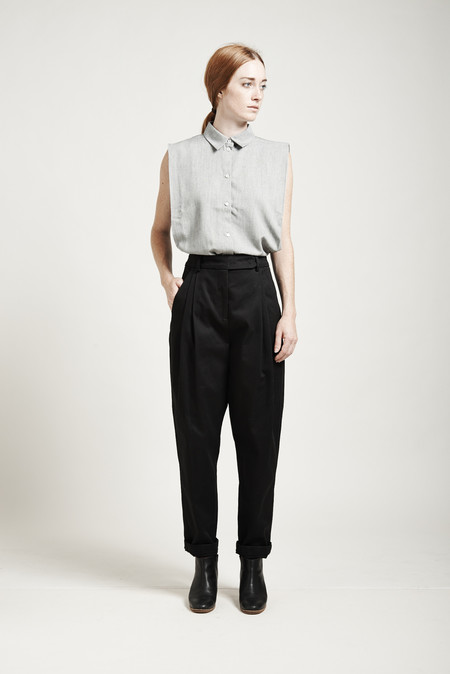 Suzanne Rae High-Waisted Tapered Pants