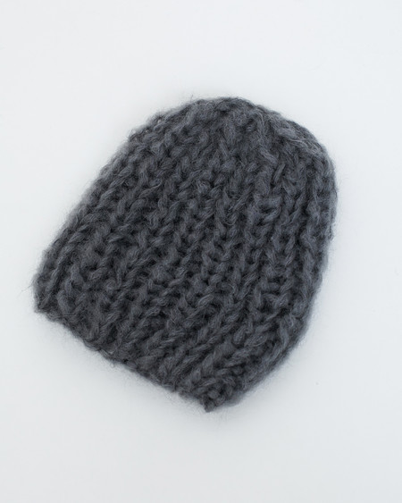 Maiami Mohair Basic Cap in Grey