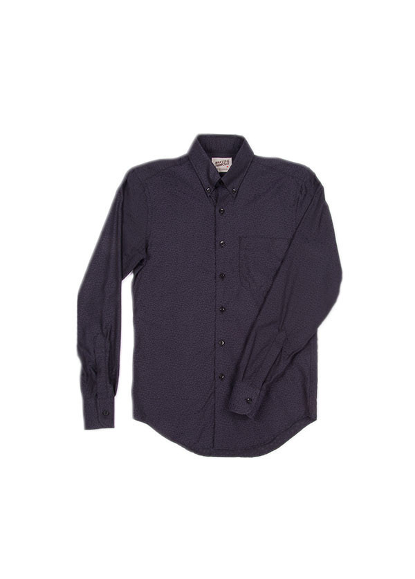Men's Naked & Famous Denim - Regular Shirt in Leopard Jacquard