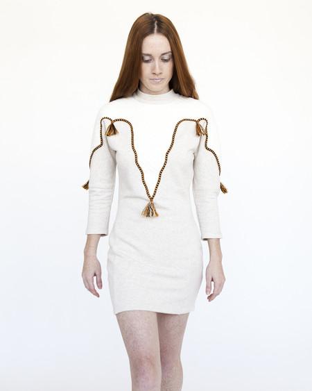 Nanushka Numa Applique Sweater Dress