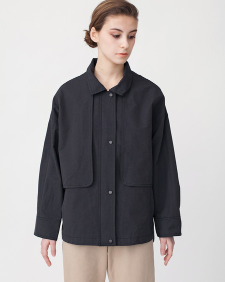Achro Oversized Cropped Trench Jacket