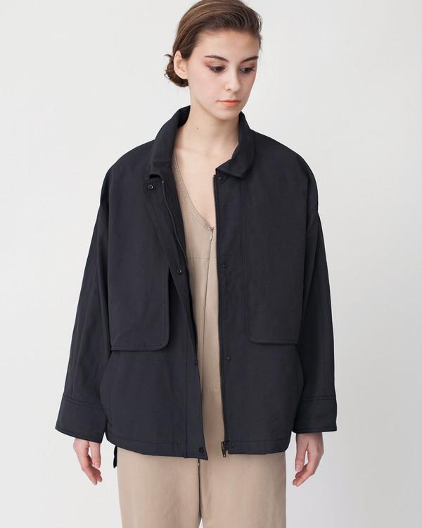 Achro Oversized Cropped Trench Jacket