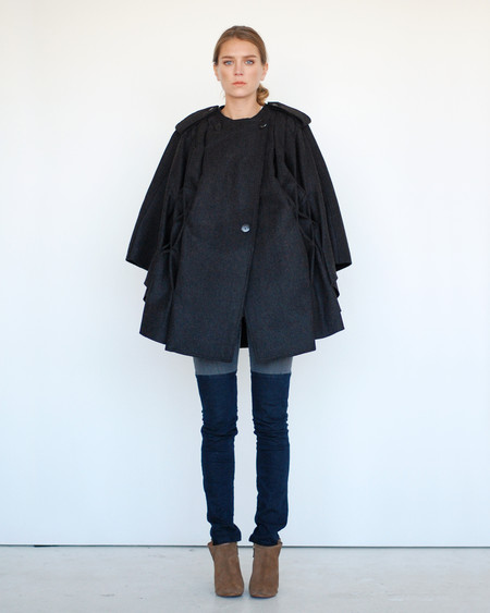 Risto Pleated Cape in Black