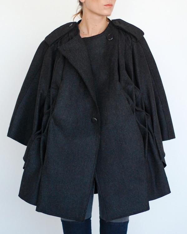 Risto Pleated Cape in Black