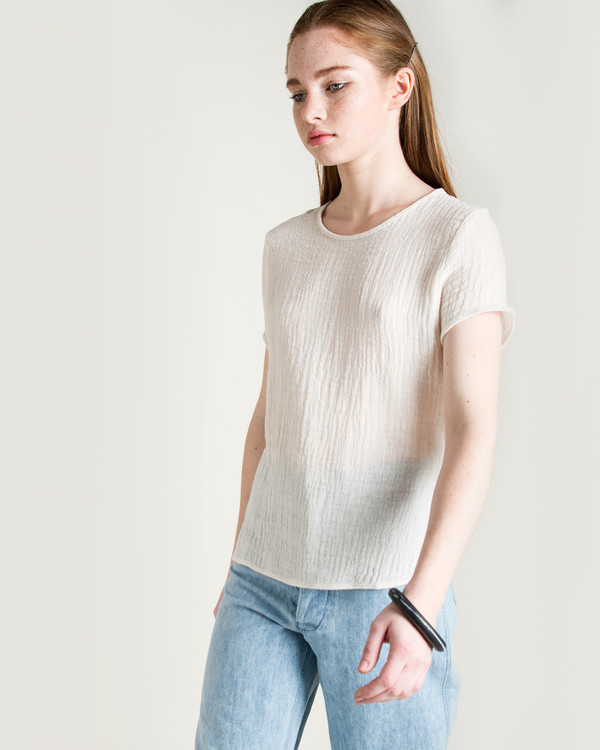 Objects Without Meaning Rhys Crinkle Top in Natural