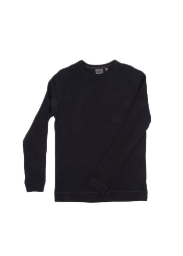 Naked & Famous Denim - Slim Crewneck Vintage Doubleface in Black