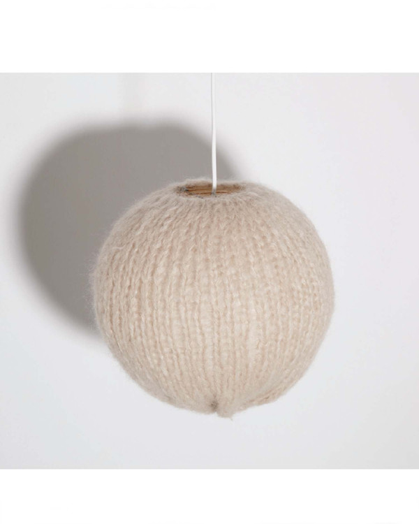 Maiami home Small Mohair Lampshade in Cream