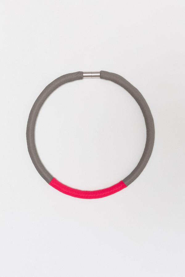 Reality Studio Tiane Necklace in Khaki and Red