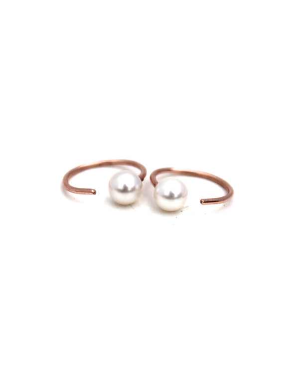 Lumo Tiny Pearls Hoops Earrings