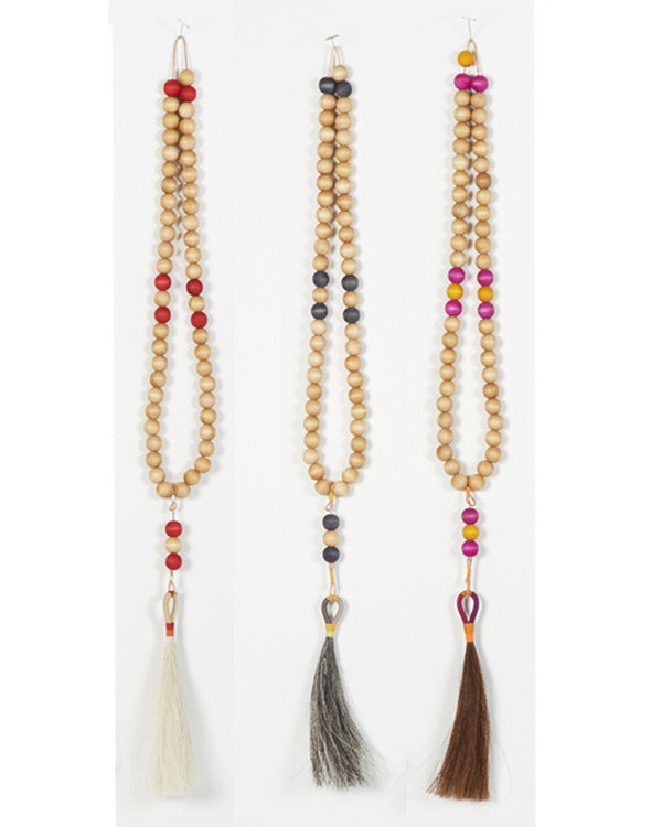Fredericks & Mae Worry Beads in Brown, Yellow & Pink