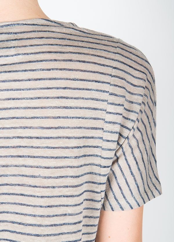 Objects Without Meaning - Basia Tee in Warm Grey Stripe