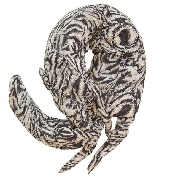 Faux Fox Scarf in Printed Silk