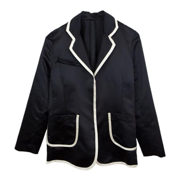 Tuxedo Jacket Notch Collar in Black