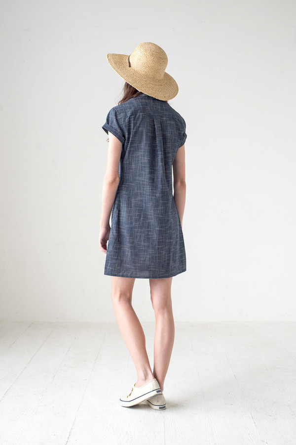Bridge & Burn Loren Navy Grid