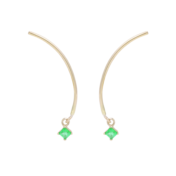 "Tara 4779 ARC ""Mobile"" Earrings - Emerald"