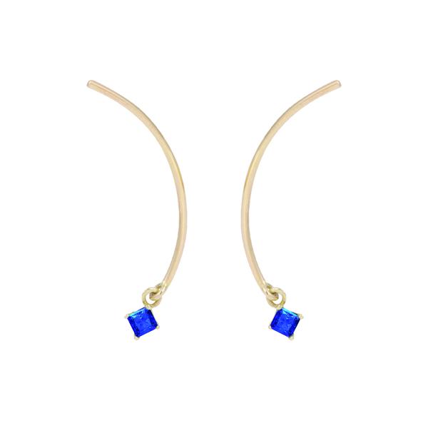 """Tara 4779 ARC """"Mobile"""" Earrings - Sapphire"""