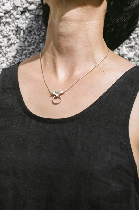 Open House Threshold Necklace - silver