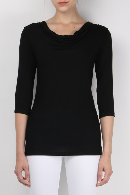 Majestic 3/4 Sleeve Drape Top