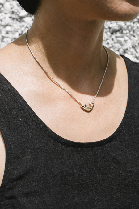 Open House Levee Necklace - bronze/silver