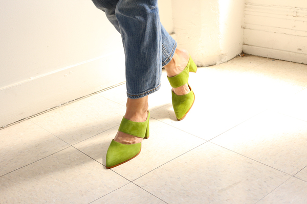 Intentionally Blank MISSY GREEN SUEDE