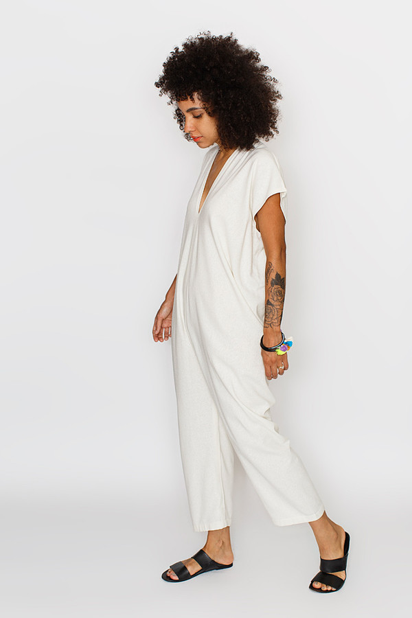 Miranda Bennett Everyday Jumpsuit, Silk Noil in Natural