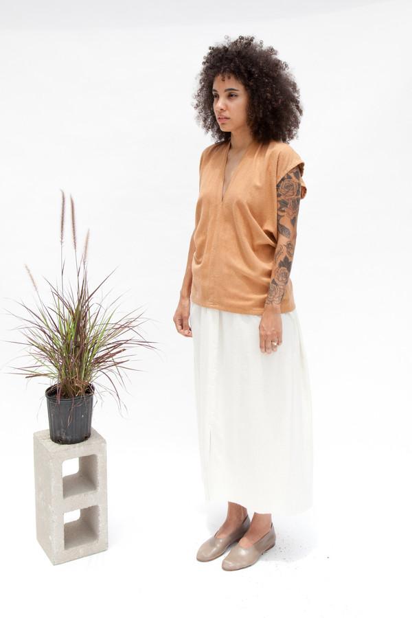 Miranda Bennett  Everyday Top, Silk Noil in Camel