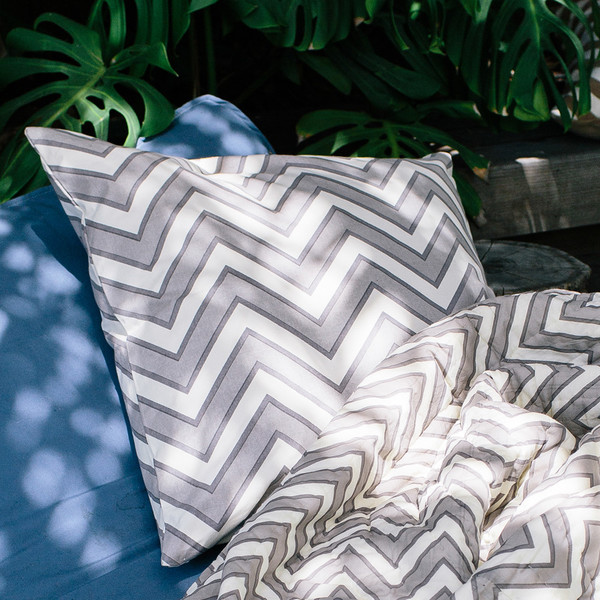 Erica Tanov zigzag euro throw pillow