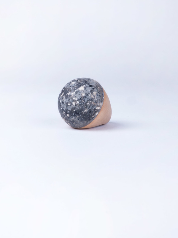 Paige Martin Woods Granite Ball Ring