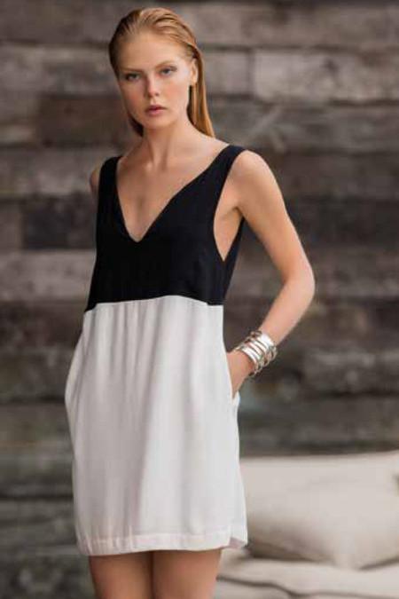 Touche Color Block Short Dress