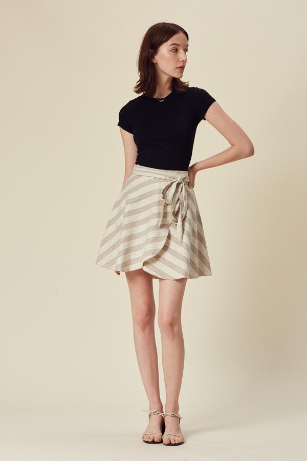 Stil. Mini San Pedro Skirt in Natural Stripe