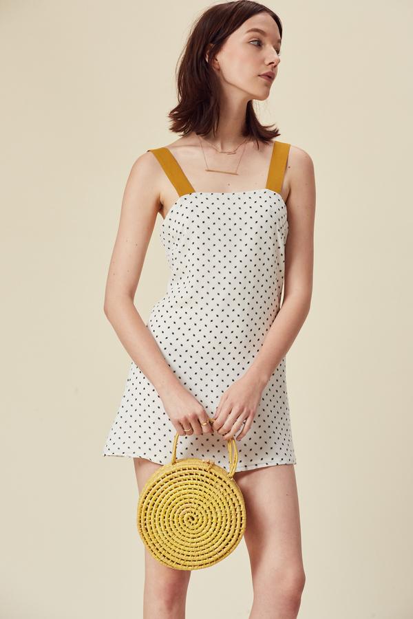 Stil. Colorblock Mini Dress in White