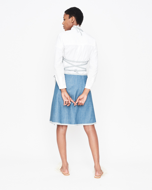 William Okpo Reemy Distressed Wrapped Skirt